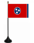 Tennessee Desk / Table Flag with plastic stand and base.
